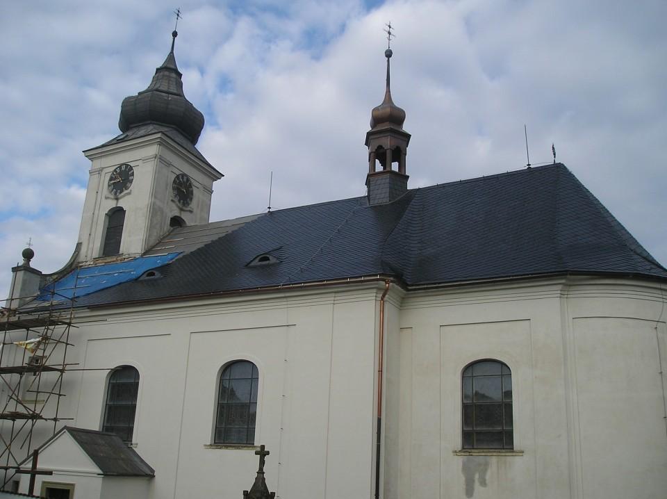 kostel strecha